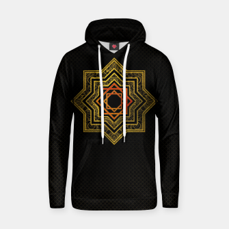 Thumbnail image of Golden Decorative Star of Lakshmi - Ashthalakshmi  Cotton hoodie, Live Heroes