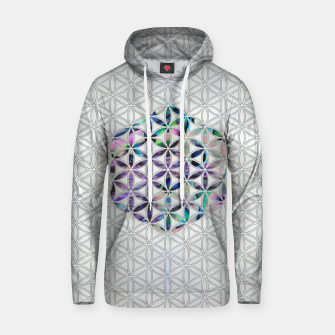 Thumbnail image of Flower of life Abalone shell on pearl Cotton hoodie, Live Heroes
