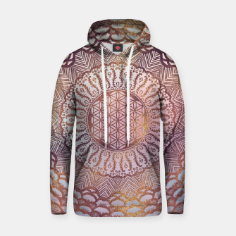 Thumbnail image of Flower of life in mandala gentle pastel glitter Cotton hoodie, Live Heroes