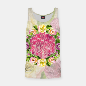 Thumbnail image of Flower of life in watercolor flower wreath Tank Top, Live Heroes