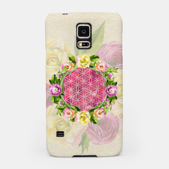 Thumbnail image of Flower of life in watercolor flower wreath Samsung Case, Live Heroes