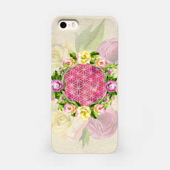 Thumbnail image of Flower of life in watercolor flower wreath iPhone Case, Live Heroes