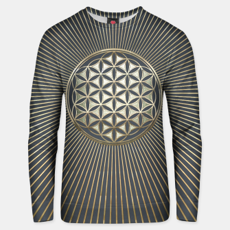Thumbnail image of Flower of life metallic embossed Cotton sweater, Live Heroes