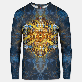 Decorative Gemstone Sacred Geometry Flower of life   Cotton sweater thumbnail image