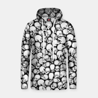Gothic Crowd B&W Cotton hoodie thumbnail image