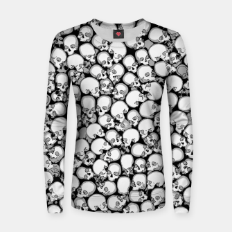 Gothic Crowd B&W Woman cotton sweater thumbnail image