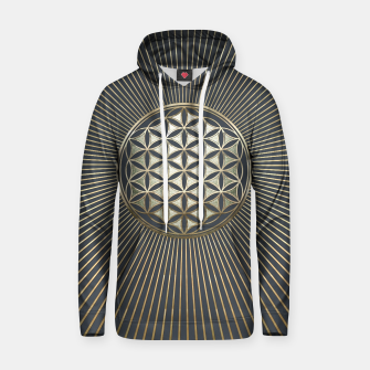 Thumbnail image of Flower of life metallic embossed Cotton hoodie, Live Heroes
