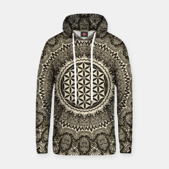 Thumbnail image of Flower of life in  mandala on canvas Cotton hoodie, Live Heroes