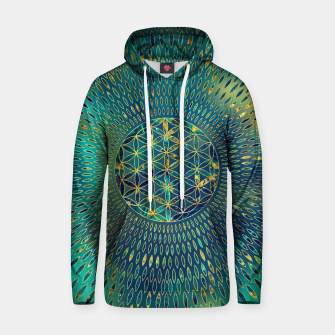 Thumbnail image of Flower of life Marble and gold  Cotton hoodie, Live Heroes