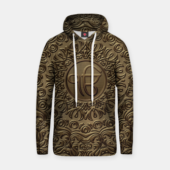 Thumbnail image of Decorative Ek Onkar / Ik Onkar  embossed on gold Cotton hoodie, Live Heroes