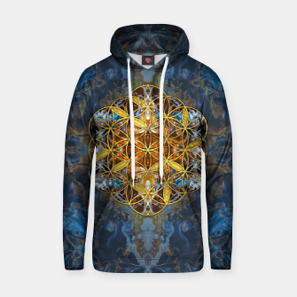 Decorative Gemstone Sacred Geometry Flower of life   Cotton hoodie thumbnail image