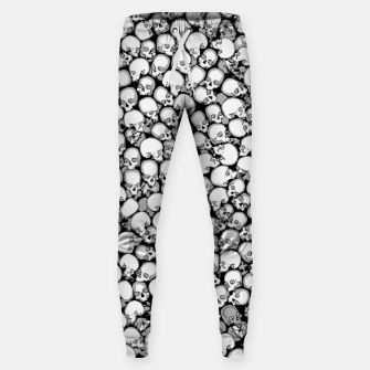 Gothic Crowd B&W Cotton sweatpants thumbnail image
