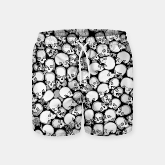 Gothic Crowd B&W Swim Shorts thumbnail image