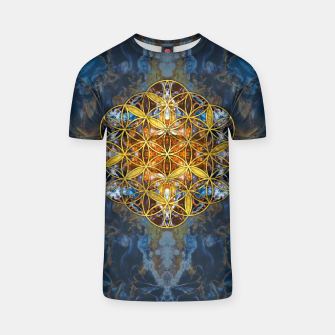 Decorative Gemstone Sacred Geometry Flower of life   T-shirt thumbnail image