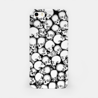 Gothic Crowd B&W iPhone Case thumbnail image