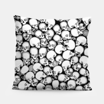 Gothic Crowd B&W Pillow thumbnail image