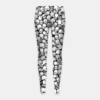 Gothic Crowd B&W Girl's leggings thumbnail image