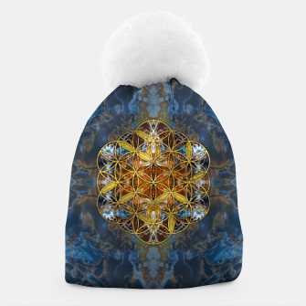 Miniature de image de Decorative Gemstone Sacred Geometry Flower of life   Beanie, Live Heroes