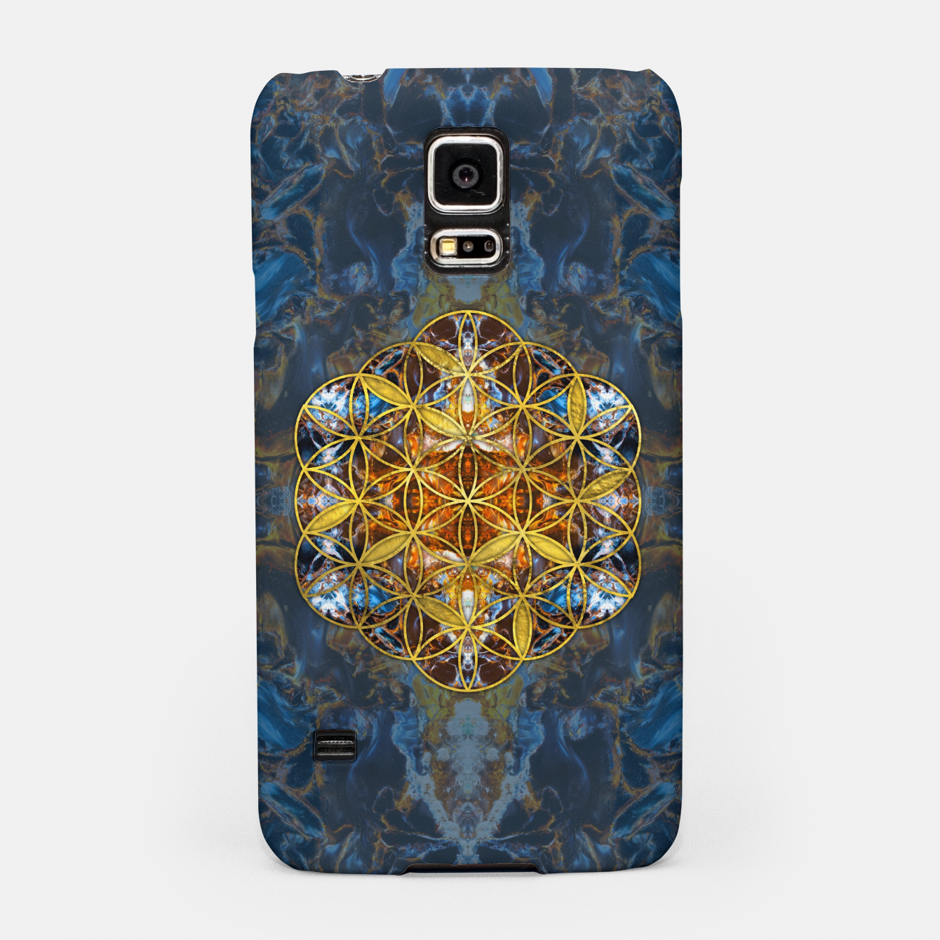 Image of Decorative Gemstone Sacred Geometry Flower of life   Samsung Case - Live Heroes