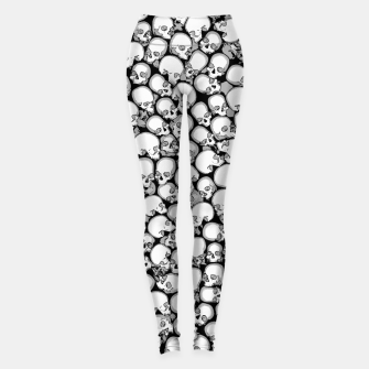 Gothic Crowd B&W Leggings thumbnail image
