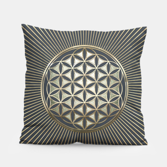 Thumbnail image of Flower of life metallic embossed Pillow, Live Heroes