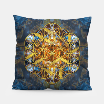 Decorative Gemstone Sacred Geometry Flower of life   Pillow thumbnail image