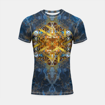 Decorative Gemstone Sacred Geometry Flower of life   Shortsleeve rashguard thumbnail image