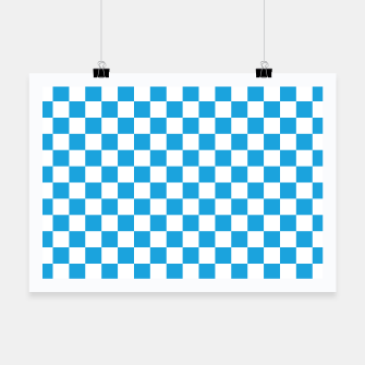 Miniatur Oktoberfest Bavarian Large Blue and White Checkerboard Poster, Live Heroes