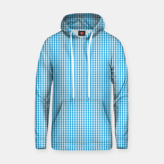 Thumbnail image of Oktoberfest Bavarian Blue and White Small Gingham Check Hoodie, Live Heroes