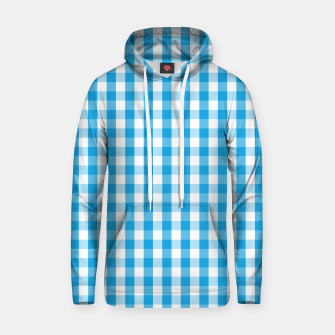 Thumbnail image of Oktoberfest Bavarian Blue and White Large Gingham Check Hoodie, Live Heroes