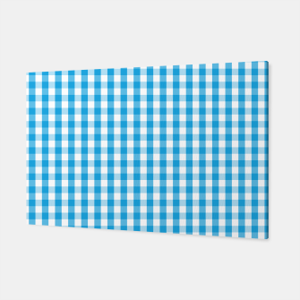 Miniatur Oktoberfest Bavarian Blue and White Large Gingham Check Canvas, Live Heroes