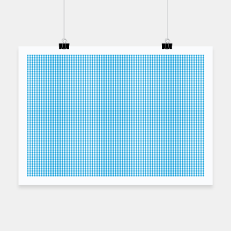Miniatur Oktoberfest Bavarian Blue and White Small Gingham Check Poster, Live Heroes