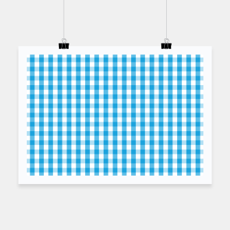 Miniatur Oktoberfest Bavarian Blue and White Large Gingham Check Poster, Live Heroes