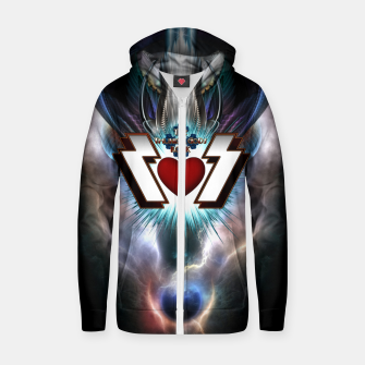 Thumbnail image of The Thunder Gods Rock Cotton zip up hoodie, Live Heroes