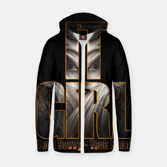 Thumbnail image of IT Girl Cotton zip up hoodie, Live Heroes