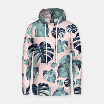 Thumbnail image of Tropical Monstera Pattern #1 #tropical #decor #art Baumwoll Kapuzenpullover, Live Heroes