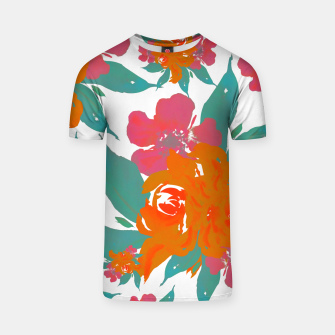 """Thumbnail image of """"VIVID COLORS TROPICAL CLASSIC FLORAL"""" Camiseta, Live Heroes"""