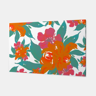 """Thumbnail image of """"VIVID COLORS TROPICAL CLASSIC FLORAL"""" Canvas, Live Heroes"""