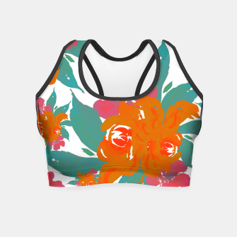 """Thumbnail image of """"VIVID COLORS TROPICAL CLASSIC FLORAL"""" Crop Top, Live Heroes"""