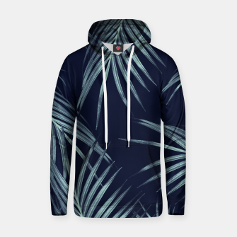 Thumbnail image of Navy Blue Palm Leaves Dream #1 #tropical #decor #art Baumwoll Kapuzenpullover, Live Heroes