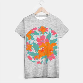 "Miniaturka ""VIVID COLORS TROPICAL CLASSIC FLORAL"" Camiseta Regular, Live Heroes"
