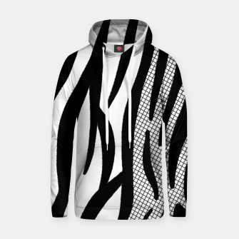 Thumbnail image of Zebra Abstract Cotton hoodie, Live Heroes