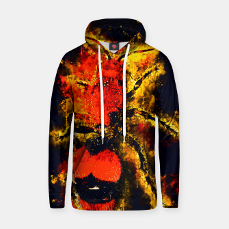 Thumbnail image of gxp velvet ant wasp dasymutilla splatter watercolor Cotton hoodie, Live Heroes