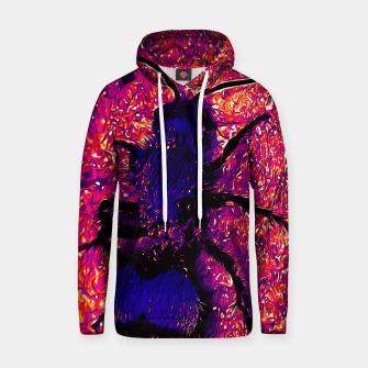 Thumbnail image of gxp velvet ant wasp dasymutilla vector art late sunset purple Cotton hoodie, Live Heroes
