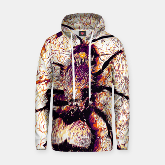 Thumbnail image of gxp velvet ant wasp dasymutilla vector art late sunset white Cotton hoodie, Live Heroes
