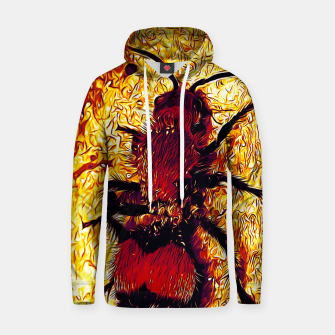 Thumbnail image of gxp velvet ant wasp dasymutilla vector art late sunset Cotton hoodie, Live Heroes