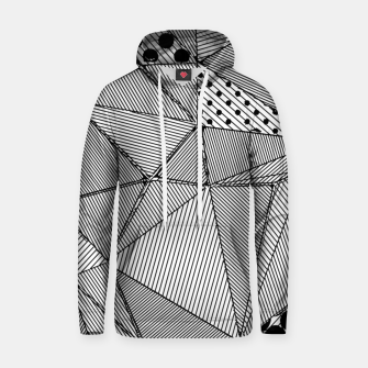 Thumbnail image of Black and White Abstract  Cotton hoodie, Live Heroes