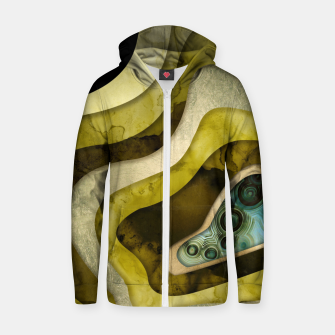 Thumbnail image of Agate Abstract II Cotton zip up hoodie, Live Heroes