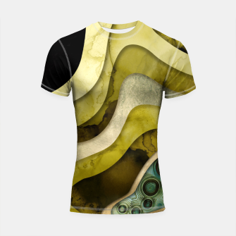 Thumbnail image of Agate Abstract II Shortsleeve rashguard, Live Heroes