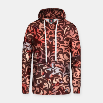 Thumbnail image of Abstract browns Design  Cotton hoodie, Live Heroes